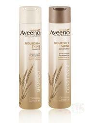 【蓋亞美舖】Aveeno 小麥蛋白滋養亮澤洗髮精 / 潤髮乳 311ml 乾性受損髮 美國進口