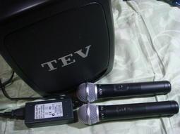 TEV TA-330 6.5吋手提式無線擴音機+2支無線麥克風