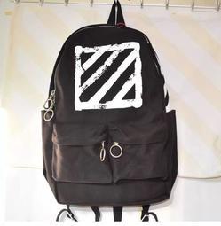 The Cube 預購 Off White 渲染潑墨 後背包 減壓背帶 筆電包 防潑水 主袋夾層 黑色