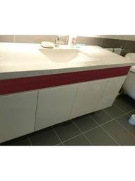 140CM 紅白搭配 或任選顏色 韓國人造石台面 方型下崁盆 白色結晶門板 隱藏把手 成舍衛浴