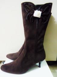 正品全新~名崴國際專櫃品牌CUMAR氣質款馬靴39號