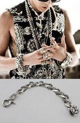 ★韓之谷★滿額免運 GD克羅心手鍊 同款 韓國設計鍍銀合金手環 龐克搖滾嘻哈個性手鍊 粗手環配件  現貨