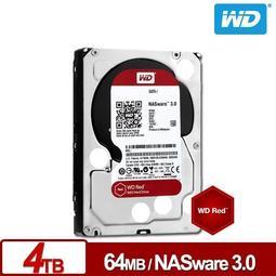 全新 現貨 捷元公司貨 WD 紅標 Red 4TB 3.5吋 NAS 硬碟 WD40EFRX (HGST 參考)