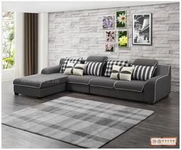 勝億傢俱批發廠~大尺寸~全新SY851鄧尼爾L型布沙發(面左)~免運費