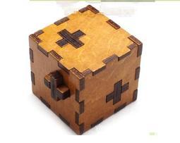 瑞士立方孔明鎖魯班鎖木制兒童玩具親子遊戲益智解扣解鎖