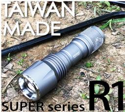 【電池醫生館】台灣製造 Maxtim 100W-R1 伸縮調焦 白光 日本Nichia 蜂巢式 LED 防潑水 手電筒