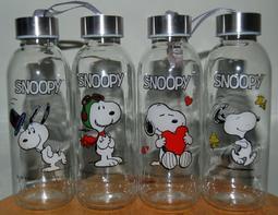 全聯 SNOOPY 史努比玻璃水瓶 (全套4款)