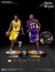 台灣限定版 enterbay NBA 1/6 12吋可動 Kobe Bryant 3.0 升級版