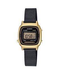 附台灣卡西歐保卡才是公司貨【時間光廊】CASIO 卡西歐 小巧 電子錶 LA670W方型 LA670WEMB-1 米蘭帶