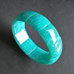 ☆采鑫天然寶石☆ **活泉** 頂級冰潤湖水藍綠天河石手鍊~手環~極美