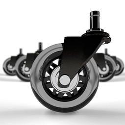 【京晤】AXL辦公椅輪子AR03-76BSPU 美國熱銷溜冰輪設計辦公椅子PU輪子/電腦椅輪/電競/腳輪 防刮 靜音
