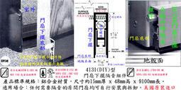 【ASSA ABLOY專業認證級隔音材料】4131型門底外掛自動升降型隔音/防煙/氣密/防火阻尼ASTM/UL標準
