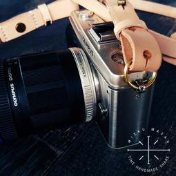 【米Mizku Masau】植鞣革數位相機肩帶