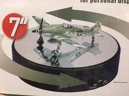 【模王 現貨】電動 鏡面 旋轉盤 旋轉台 鏡面地台直徑17公分 飛機 坦克 模型 可用