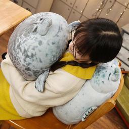 大阪軟綿綿 人氣 海豹抱枕/海豹公仔 娃娃 靠腰枕 枕頭 海洋博物館人氣海豹動物小海獅抱枕