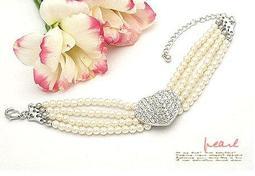 {Korinne's Shop } 滿400免運(7-11純取貨) 日韓飾品批發 愛心 滿鑽 多層 珍珠 手鍊 手環