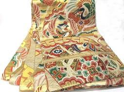 [西陣錦織]˙日本(和服kimono丸帶)˙正絹˙錦織˙古布˙(609)