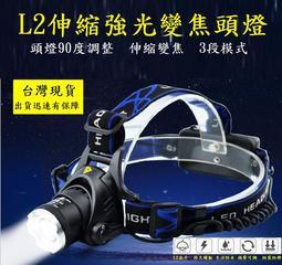 強光.有現貨.L2頭燈超值全配價.1200流明.保固一年(露營,登山,必備) XM-L2伸縮變焦強光頭燈