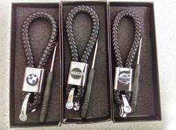 ESG暢貨中心 編織繩 logo車標飾品 吊飾 裝飾 賓士 福斯 BMW 汽車鑰匙圈 鑰匙鍊 benz