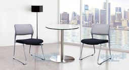 ╭☆雪之屋居家生活館☆╯R319-05 W08B造型椅口字型(烤銀架)/戶外椅/洽談椅/單張椅子/不含桌子