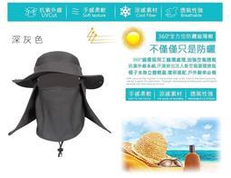 台灣製造~通過台灣SGS檢測~UPF50+~抗UV高防曬輕便速乾遮陽帽~360度護頸,防曬,防塵,防蚊,速乾,通風