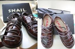 SNAIL 蝸牛 綁帶娃娃鞋 棕(咖啡) 39號女款 SA-080703 全新