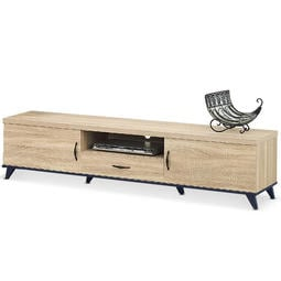MY傢俬 簡約木色質感6尺電視櫃