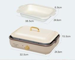 日本IRIS 多功能料理鍋 全新(現貨) 陶瓷深鍋 6孔料理盤 不沾黏燒烤盤 【BRUNO 】麗克特 也適用