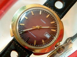 【環瀛搜奇館】1950年TIMEX天美時美國製手上鍊機械男錶行走正常錶徑38mm