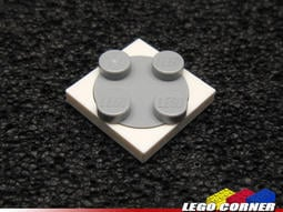 【樂高小角落】 White Turntable 2x2 Plate 白色、淺灰色小轉盤 368001 4540203