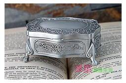 【歐式風格戒指盒皇后銅鏡】袖珍首飾盒 可放耳針 耳環 津星生活館