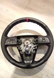 碳纖真皮手縫方向盤套 new Mazda5  , m5  , 2代Mazda3 ,2代馬3
