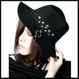 *MINI PUNK LOLO*日本龐克視覺-暗黑聖域魔法使者骷髏頭鉚釘個性造型帽(中性.sd39024)PUNK