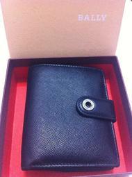 真品 BALLY 黑色 髮絲紋牛皮 皮夾 男女適用 原價12000 賣4700