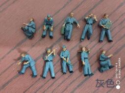 《模王 預購》1/72 - 二戰德軍後勤兵 10員/組 (帶透明盒裝) *分二種著裝顏色(灰色及綠色)
