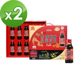 金蔘-6年根韓國高麗人蔘蔘芝王禮盒(100ml*10瓶,共2盒)
