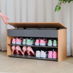 掀蓋式收納穿鞋椅 鞋櫃 玄關椅 休閒椅【馥葉2-SM】【型號8406】