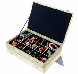[歐克帕W0013-3]宋錦緞單層錦盒15格*錦盒珠寶盒印章盒玉器盒收藏盒古玩盒古董盒首飾盒飾品盒戒指盒手鐲盒手環盒玉鐲