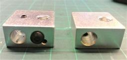 3D印表機 MK7 MK8加熱鋁塊 20mmx20mmx10mm Makerbot