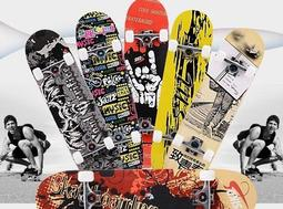 4輪滑板 成人專業四輪楓木公路板 雙翹板 廠家直銷批發
