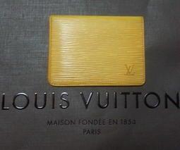 Louis Vuitton路易威登EPI水波紋 證件夾/信用卡/車票夾/名片夾/悠遊卡夾/卡夾/名片夾 黃色LV 賣場有CHANEL/Versace/Hermes可參考