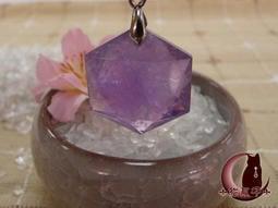 【☩貓爪子☩ 靈舍】紫水晶六芒大衛星靈擺#AS-1 能量自我探索/占卜工具/心靈療癒.可當墜飾