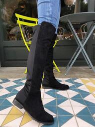 轉售 小蒜AFS麂皮彈力過膝長靴