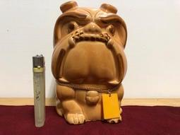 「企兒部社」中國上海錶廠 雙菱牌手錶 陶瓷公仔 法鬥 英鬥 惡犬