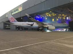 DA350[海天精品殿] 華航A350-900 帝雉機 2016/10/28 官方發表會現場 起落架/發動機扇葉可轉動
