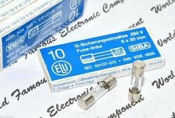 德國 ELU 1A 250V (T慢熔) FOR AUDIO 5x20mm 保險絲 1顆1標