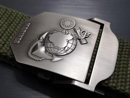 海軍陸戰隊 休閒帆布腰帶 隊徽+MARINES 帆布腰帶 永遠忠誠 一日陸戰隊終身陸戰隊