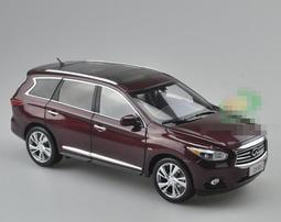 原廠 1/18 INFINIT QX60 2014年 加長型 7人座 豪華運動休旅車(紅色)模型