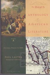 §佰俐書坊 b《The Heath Anthology of American Literature Colonial Period to 1800 Volume A 5e》2006 ISBN:0618532978