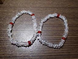 貝石之戀-鑽切白水晶.紅玉髓手鍊(不是養晶) G 062928